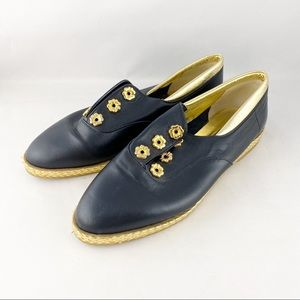 Bally Black Leather Jallut Gold Fashion Sneakers